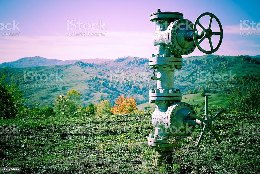 Industrial pipeline stock photo