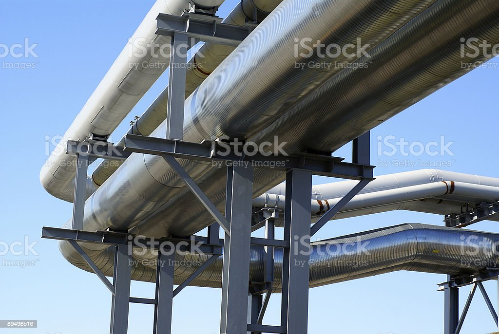 industrial pipelines royalty-free stock photo