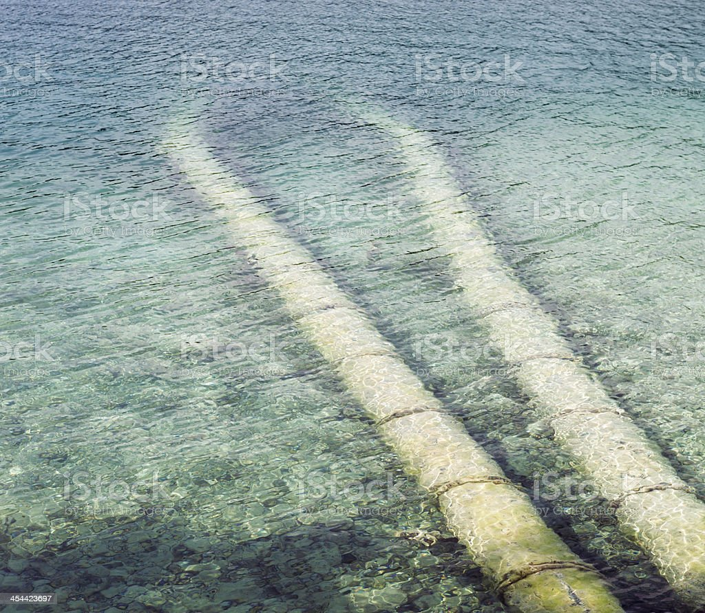 Industrial Pipes Under Water royalty-free stock photo