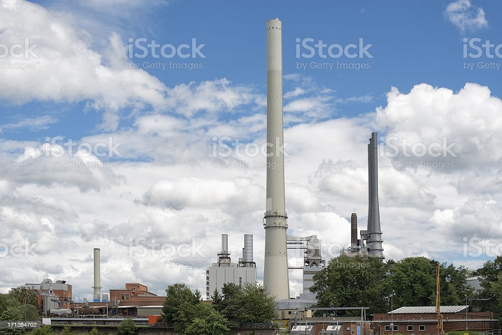 Industrial plant against great cloudscape stock photo