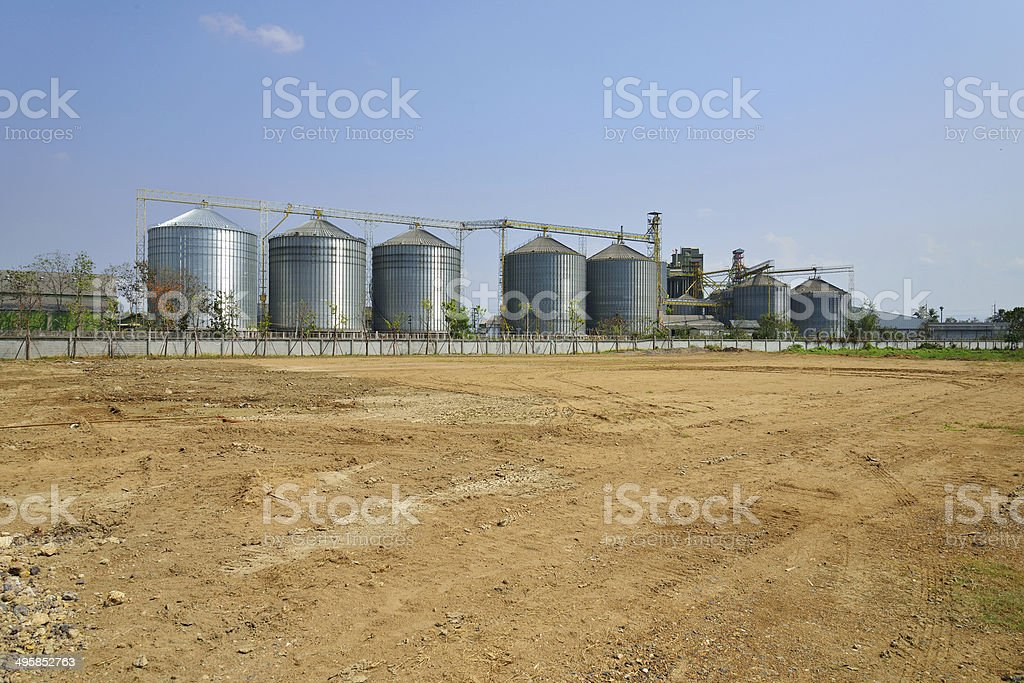 industrial plant building royalty-free stock photo