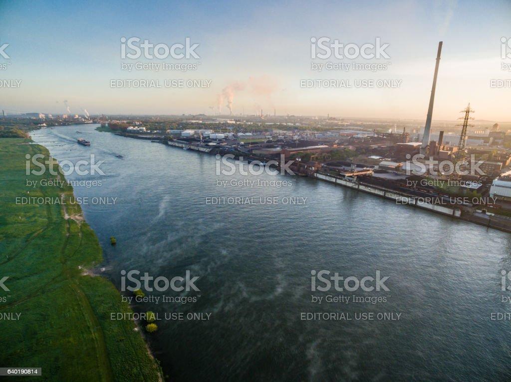Industrial plant DK in Duisburg stock photo