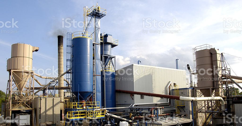 Industrial plant stock photo