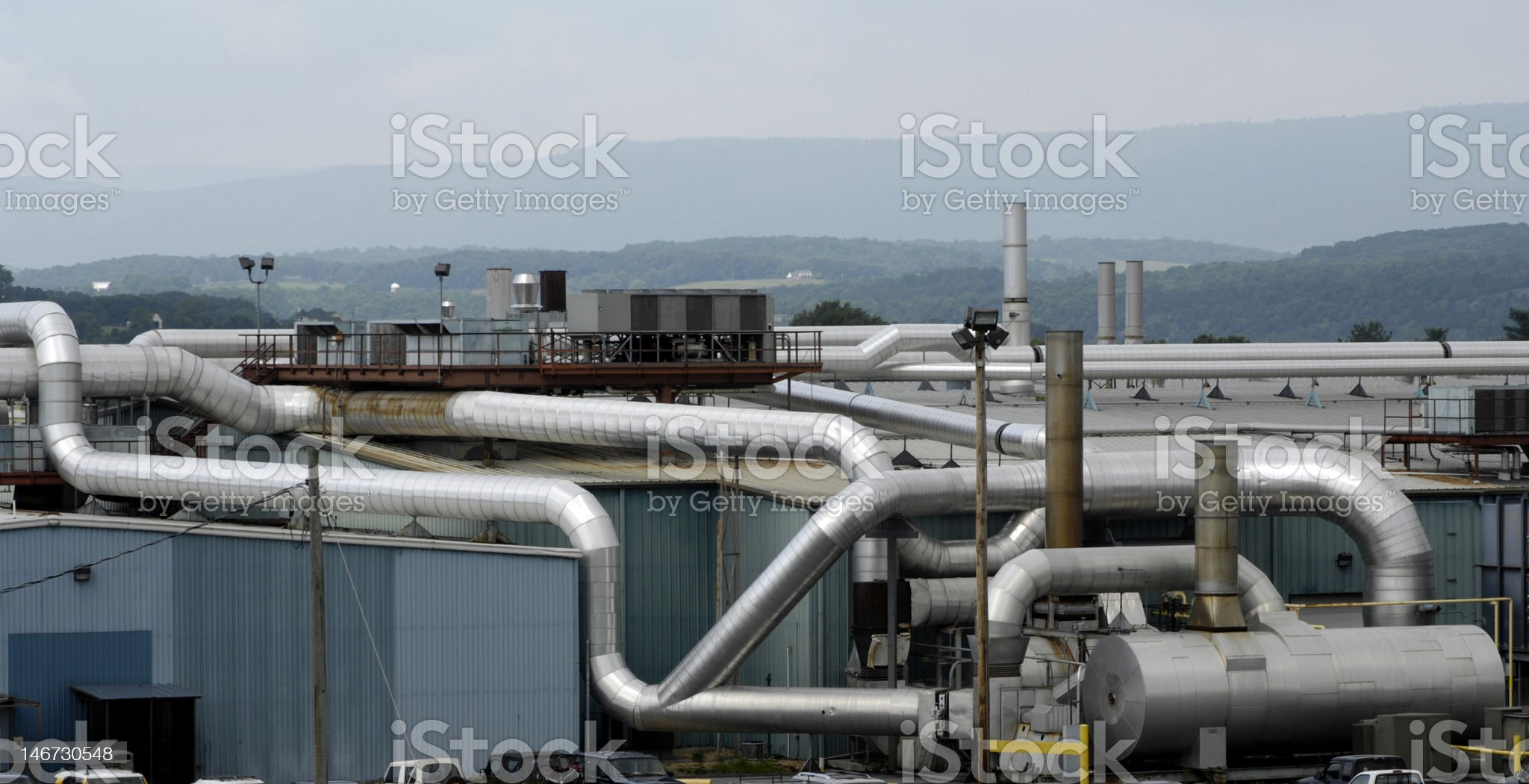 Industrial Plant, Strausberg, Virginia royalty-free stock photo