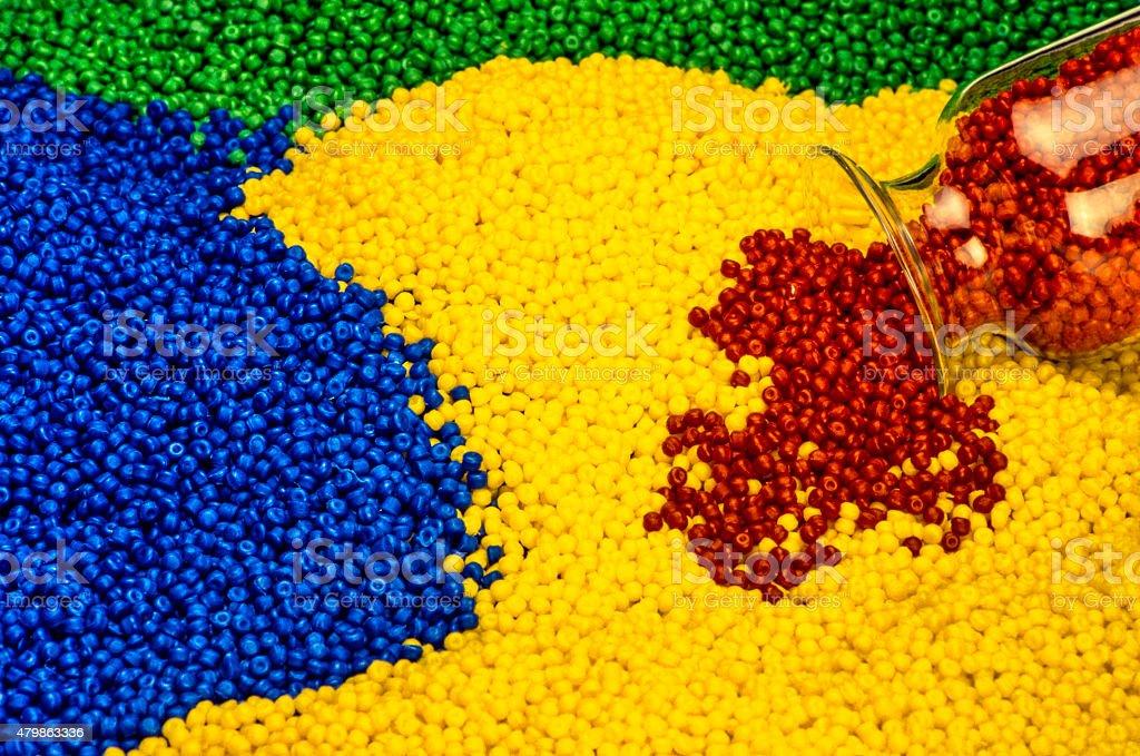 Industrial Plastic Granules stock photo