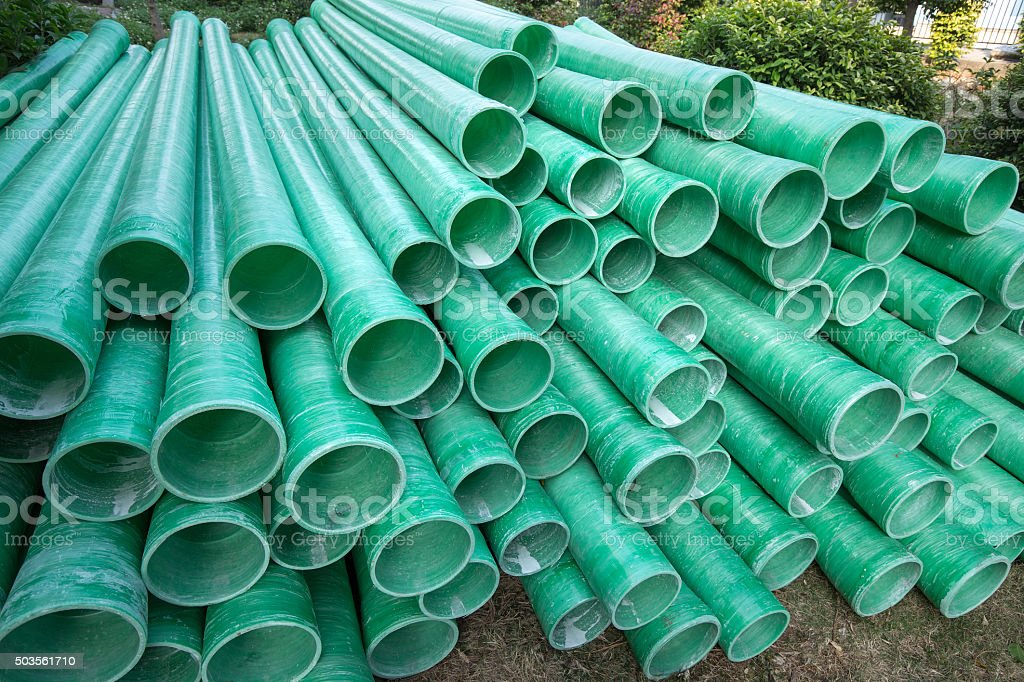 Industrial plastic pipe stock photo
