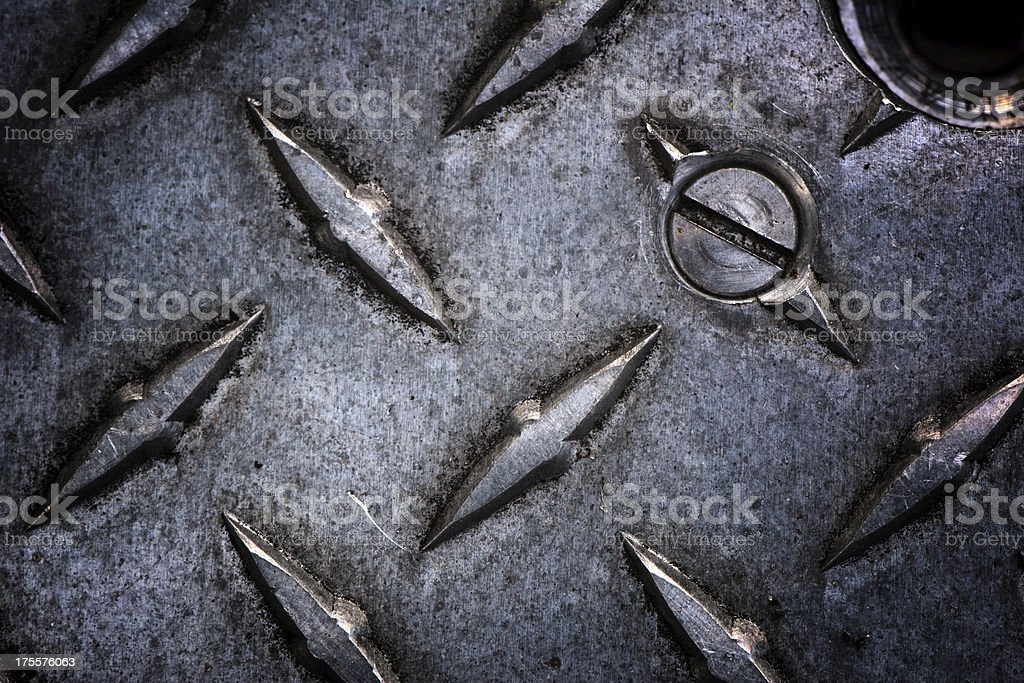 Industrial Plate with Screw royalty-free stock photo