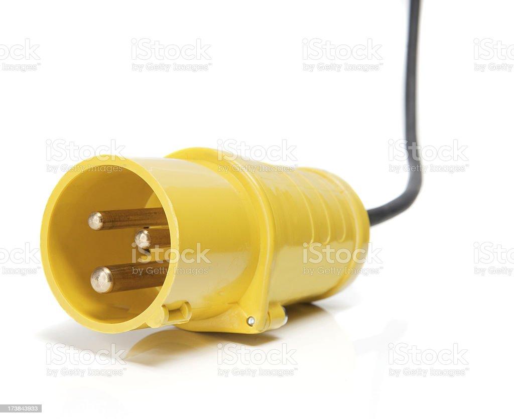 110V industrial plug stock photo
