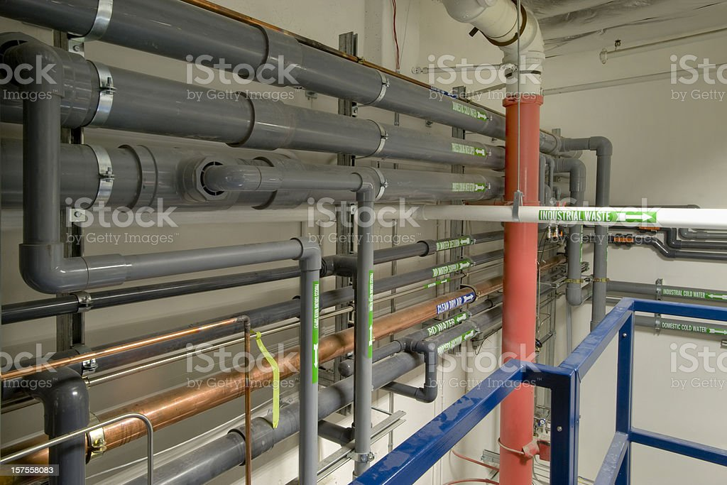 Industrial plumbing stock photo