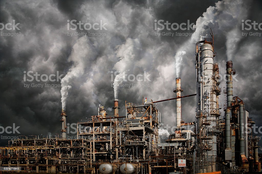 Industrial pollution stock photo