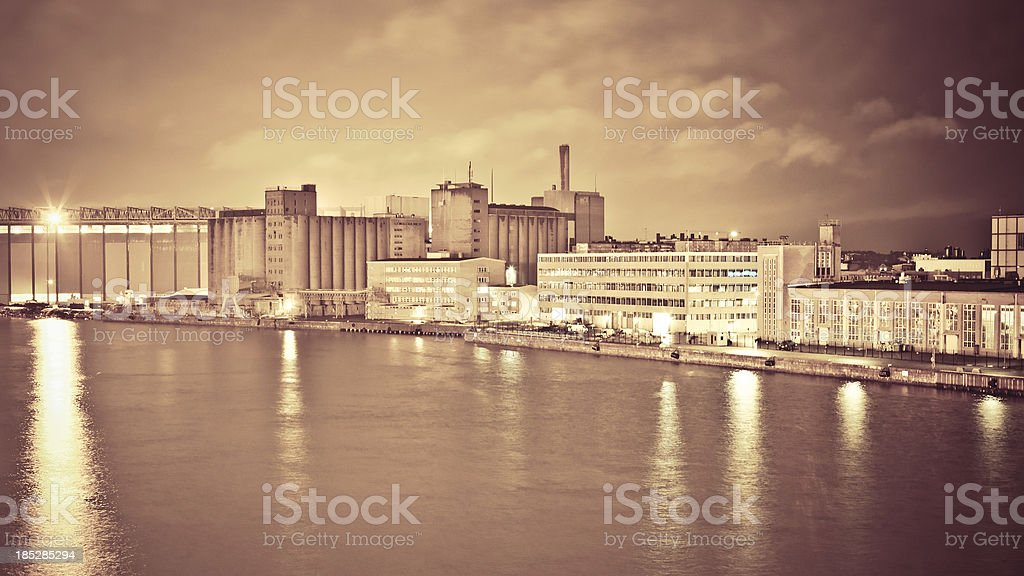 Industrial port area. royalty-free stock photo