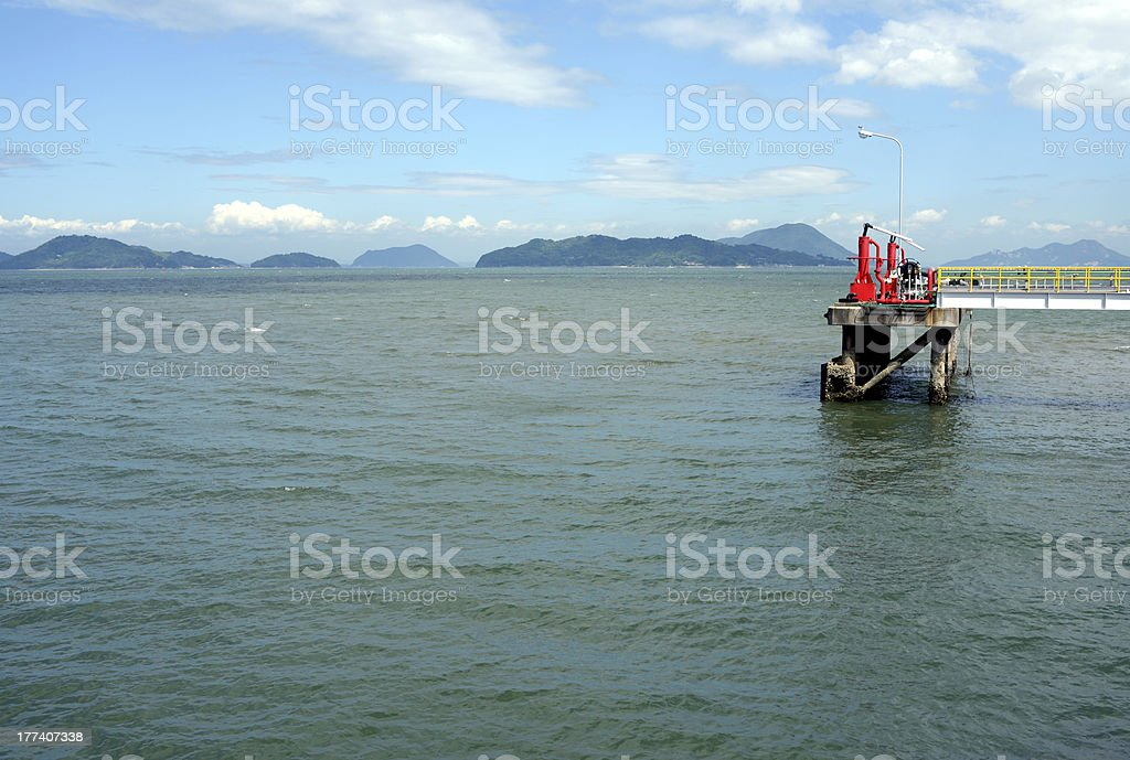Industrial port for loading stock photo