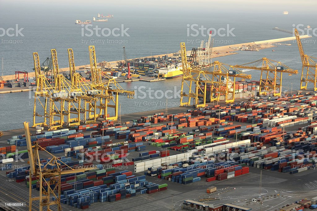 Industrial port of Barcelona royalty-free stock photo