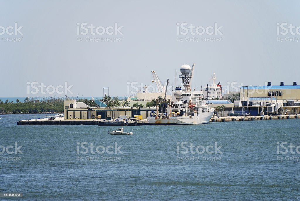 Industrial port royalty-free stock photo