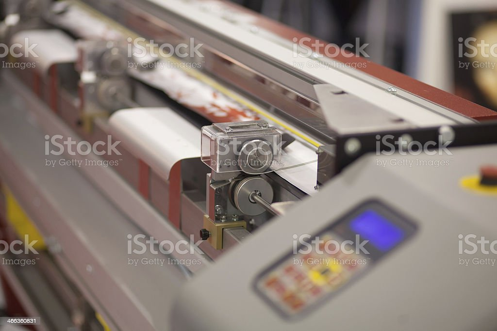 industrial printer stock photo