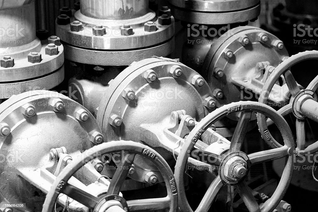 industrial - process valves stock photo