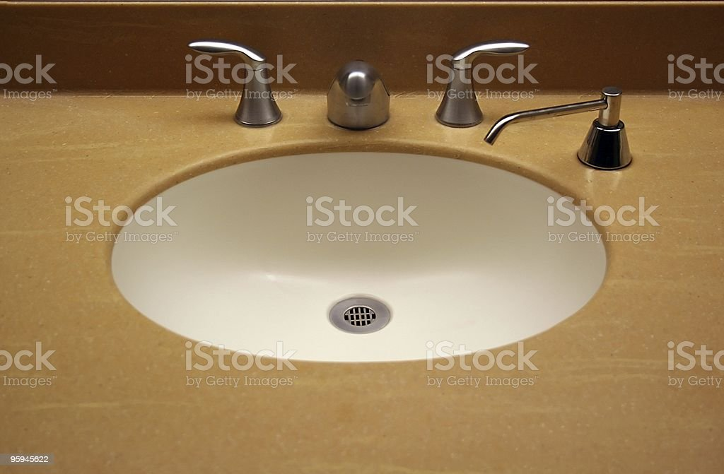 Industrial Public Sink with Soap Spout royalty-free stock photo