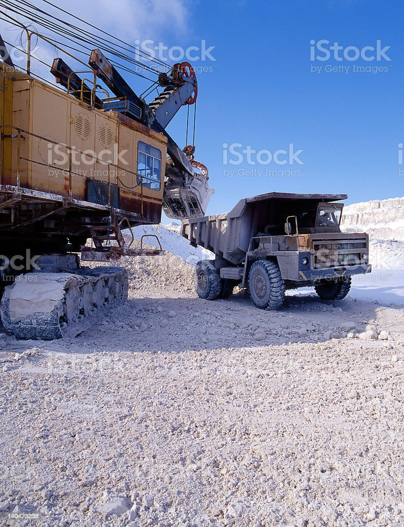 Industrial quarries of the Ukraine royalty-free stock photo
