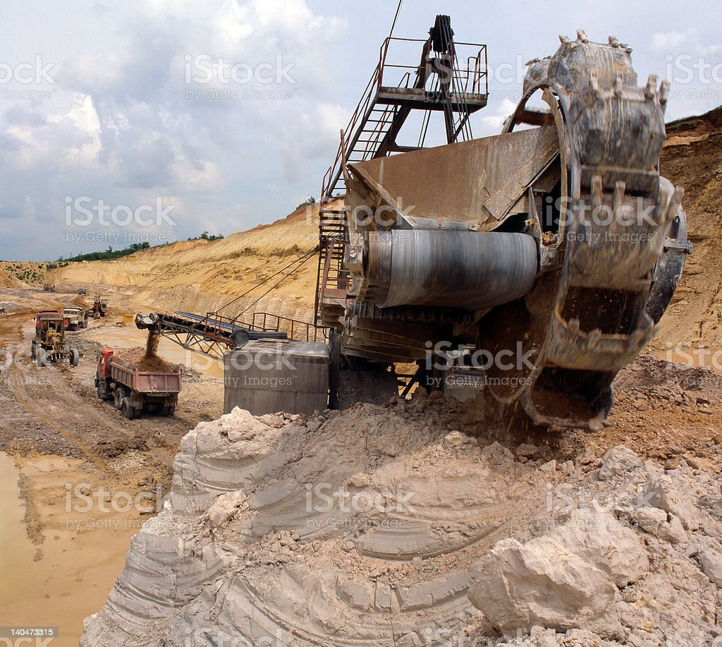 Industrial quarries royalty-free stock photo