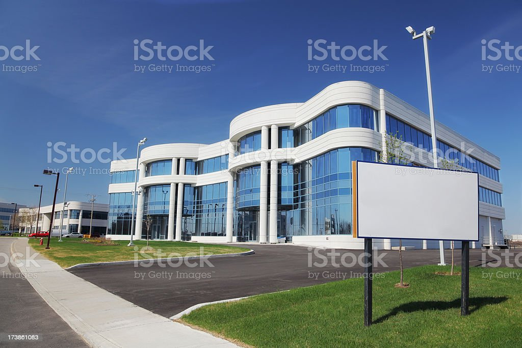 Industrial Real Estate with Sign stock photo