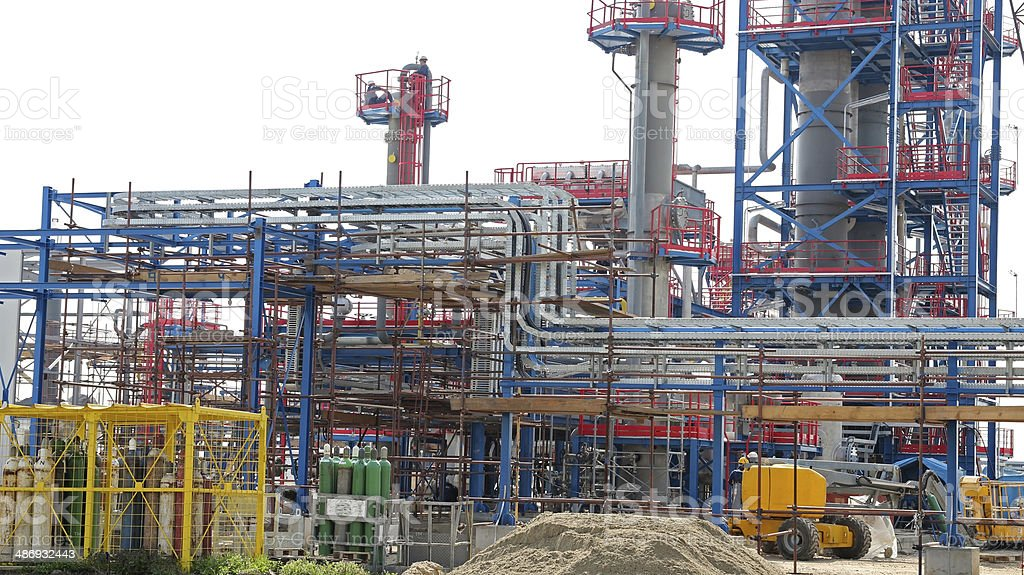 Industrial Refinery Installation royalty-free stock photo