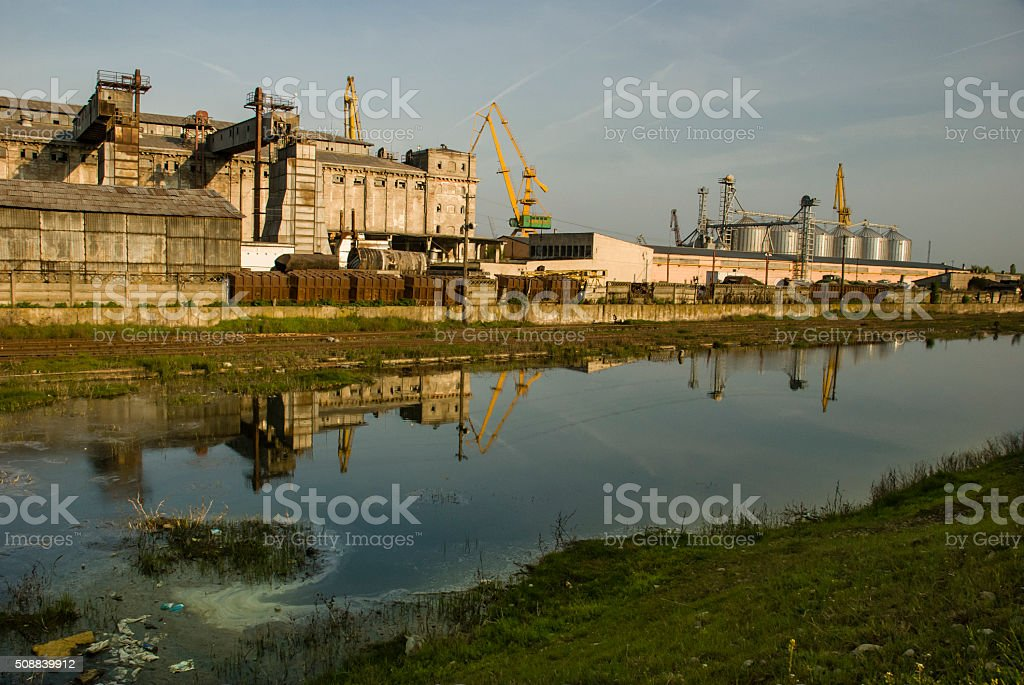 Industrial reflected stock photo