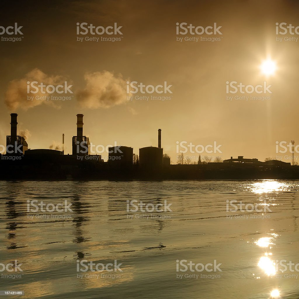 industrial reflections royalty-free stock photo