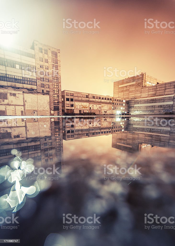 Industrial reflections. royalty-free stock photo