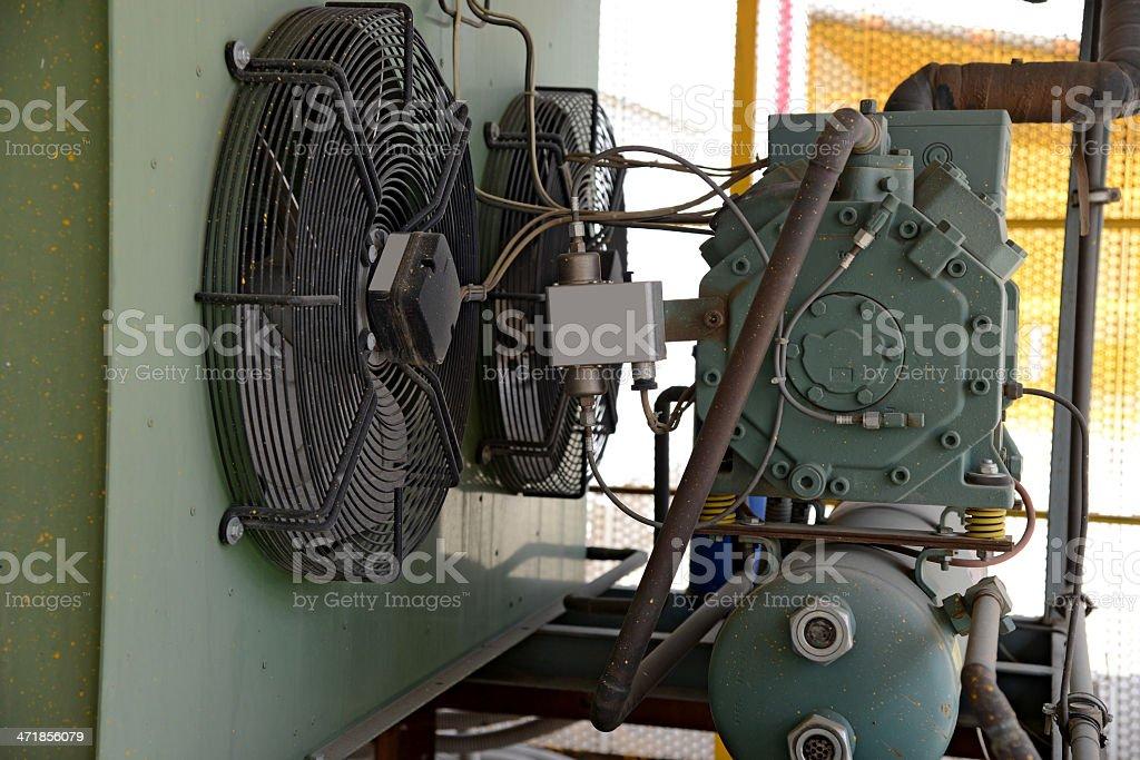 Industrial refrigerator stock photo