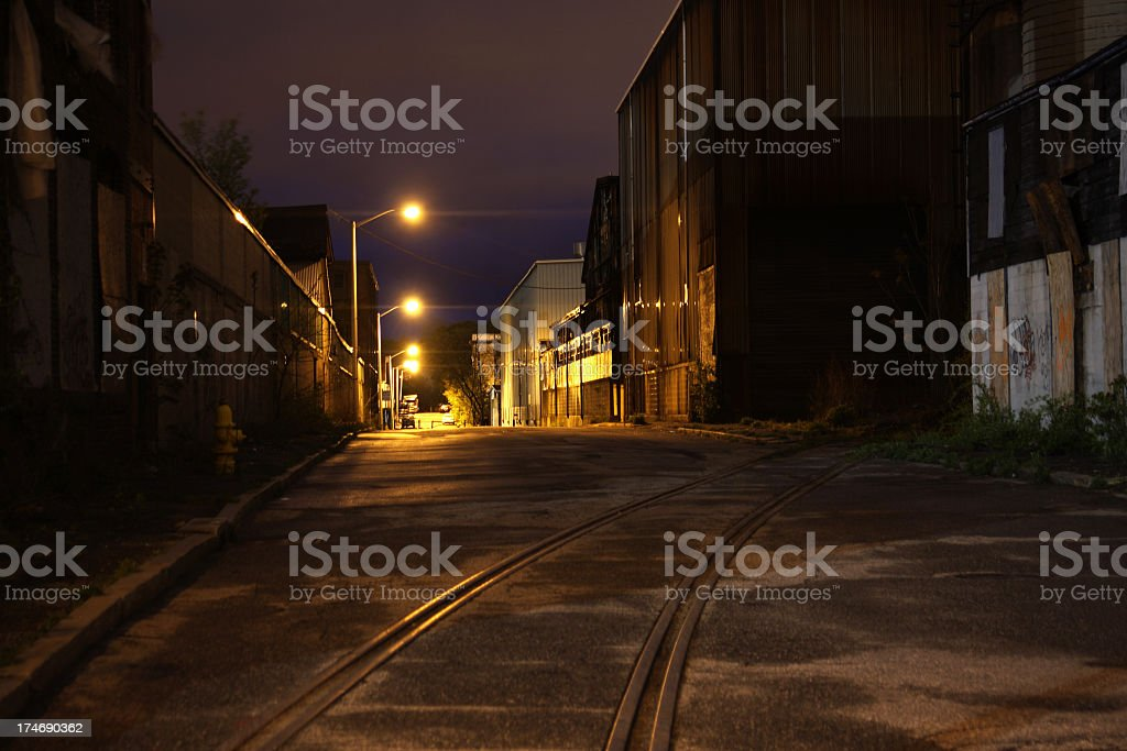 Industrial Road stock photo