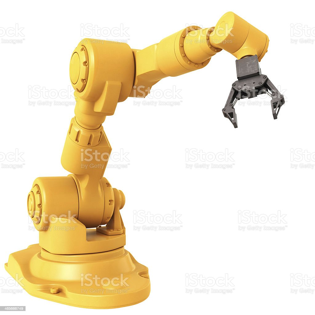 Industrial Robot Arm stock photo
