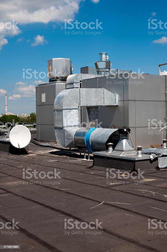 industrial roof stock photo