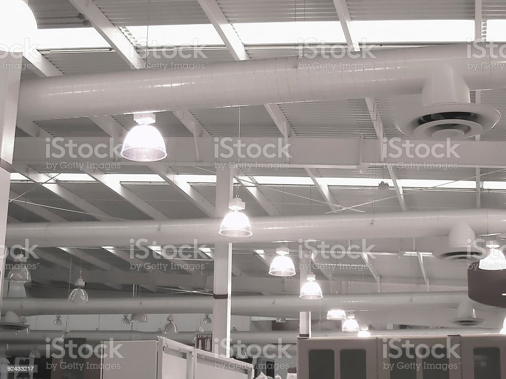 Industrial Roof royalty-free stock photo