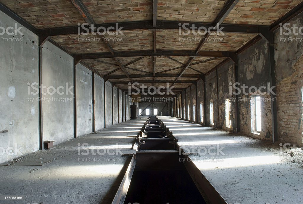 industrial ruin stock photo