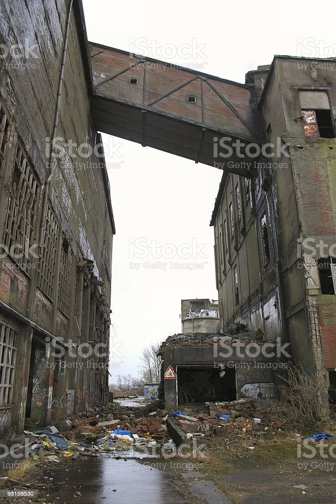 Industrial ruin #1 royalty-free stock photo