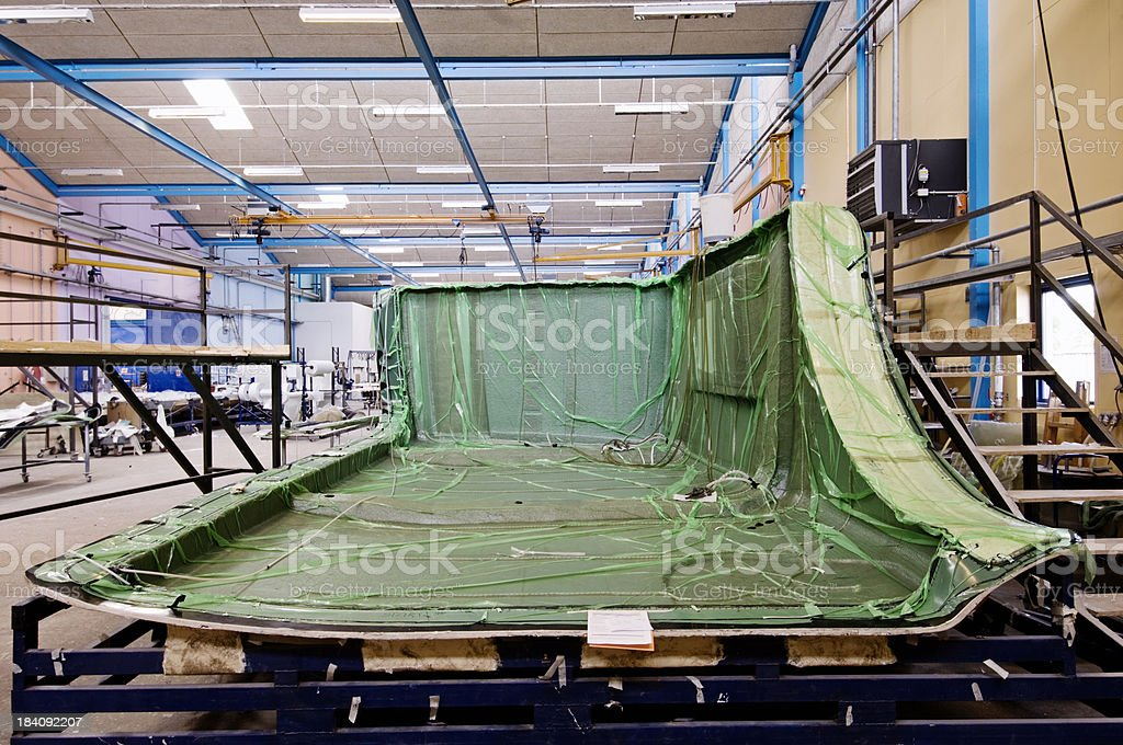 Industrial Scale Glassfiber Mold Factory stock photo