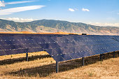 Industrial Scale Photovoltaic Solar Panel Array In Bakersfield, California