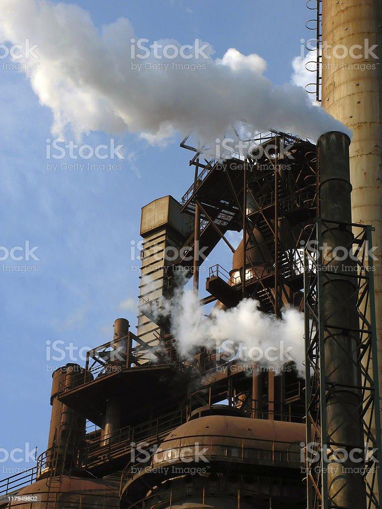 industrial scenery stock photo