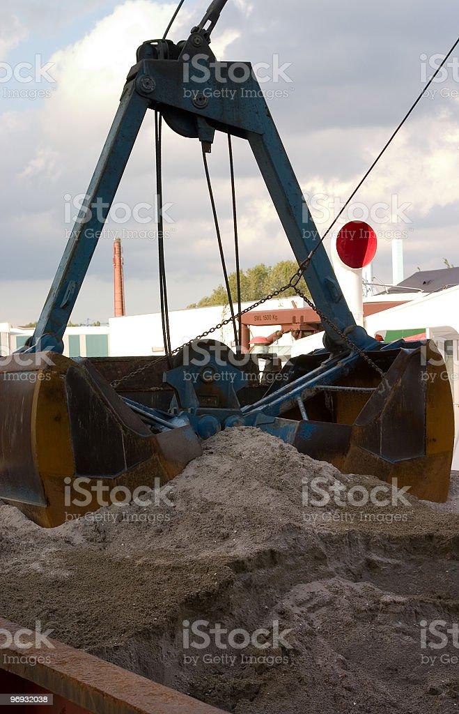 Industrial scoop shovel stock photo