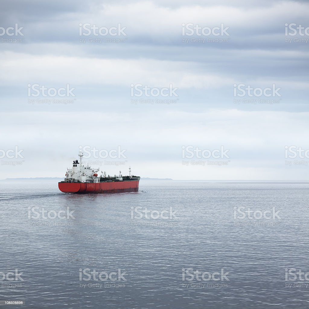 Industrial ship at sea royalty-free stock photo