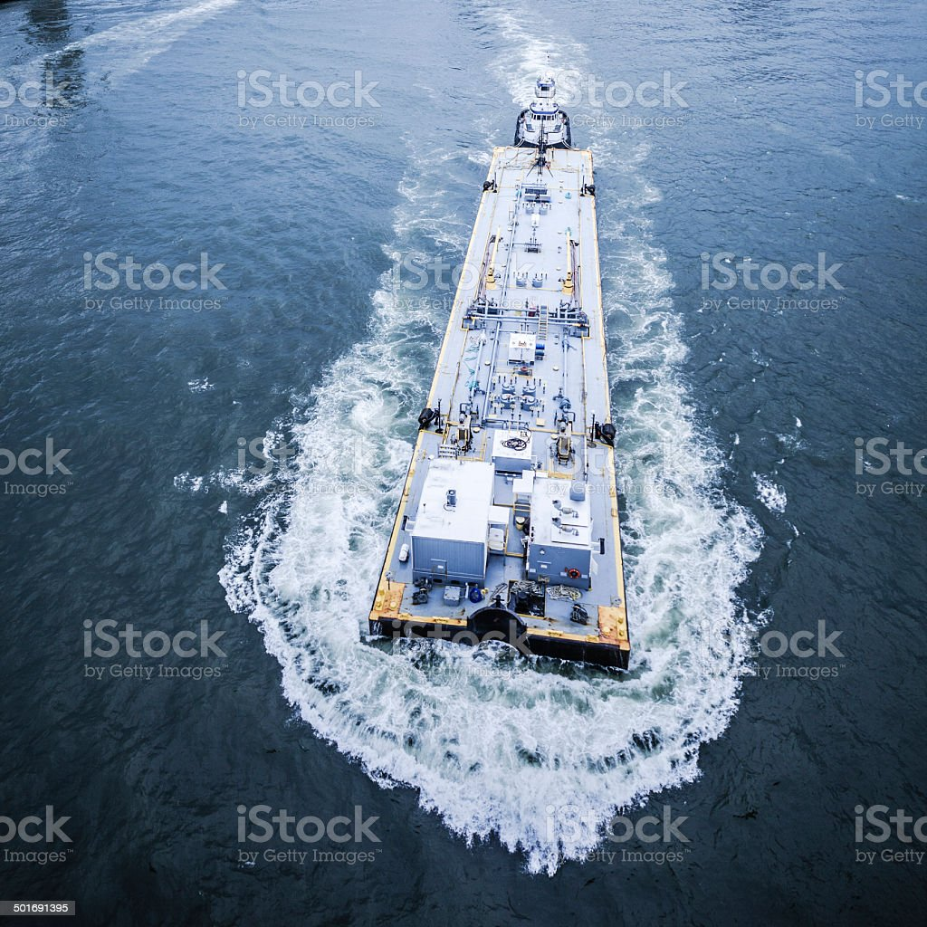Industrial ship at the East River royalty-free stock photo