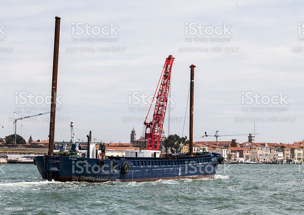 Industrial Ship in Port of Venice royalty-free stock photo