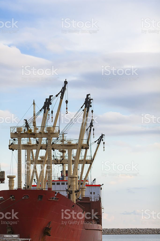 Industrial Ship on Harbour royalty-free stock photo