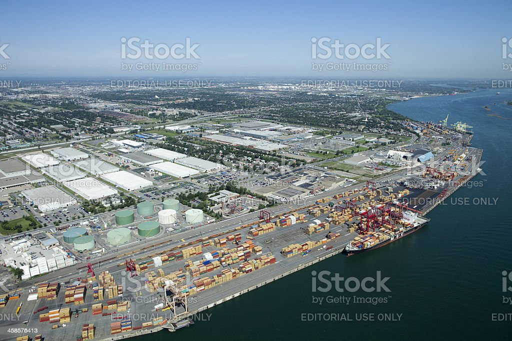 Industrial Shipping Ports stock photo