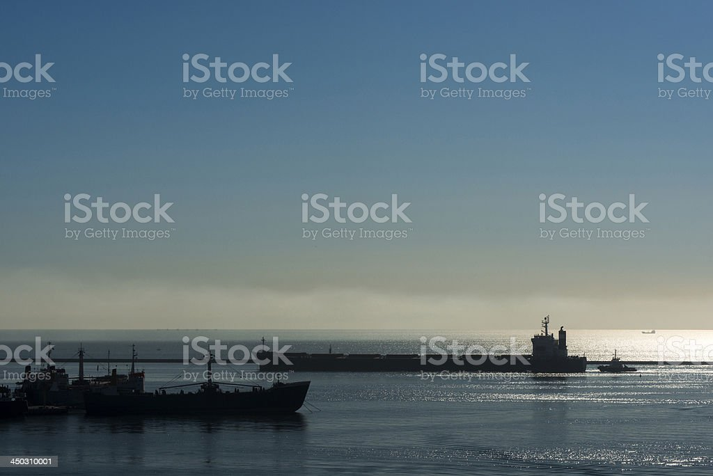 Industrial Ships royalty-free stock photo