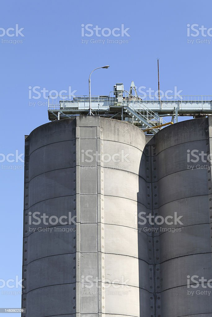 Industrial silo stock photo