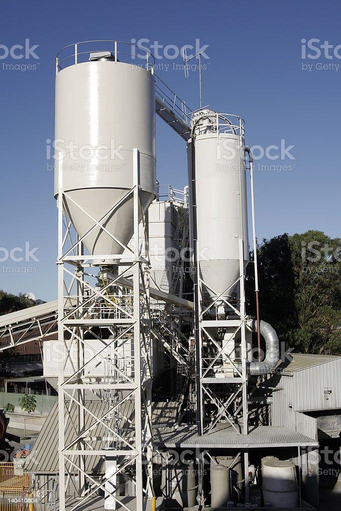 Industrial Silo Tanks royalty-free stock photo