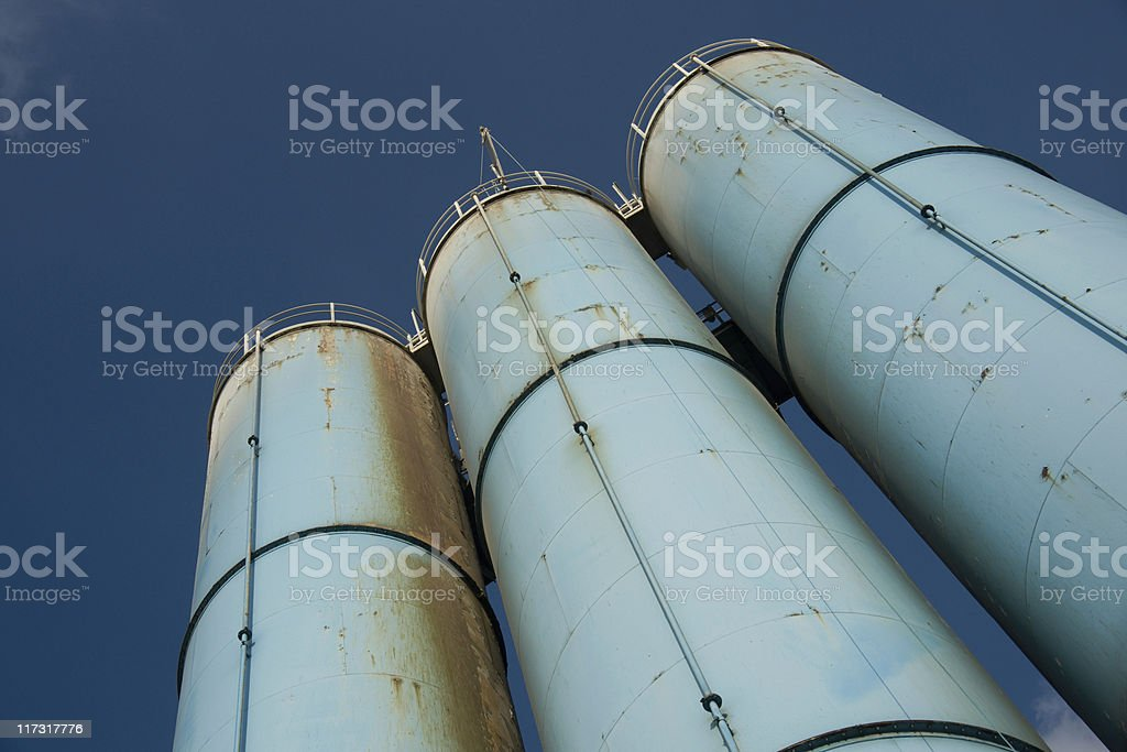 Industrial silos royalty-free stock photo