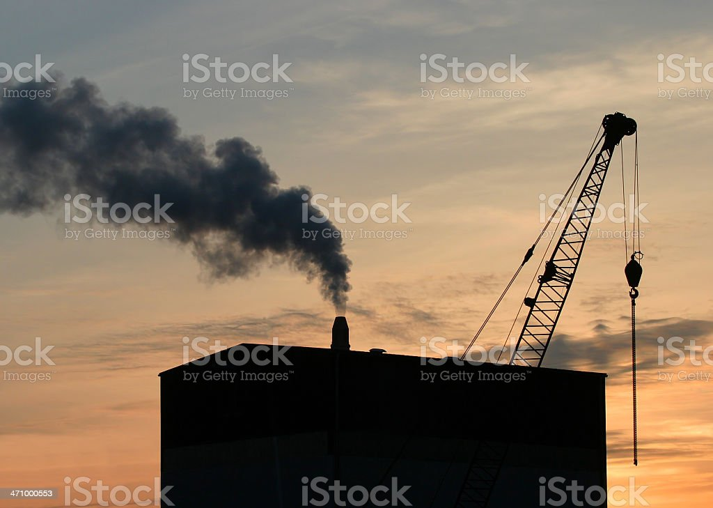 Industrial Skyline royalty-free stock photo