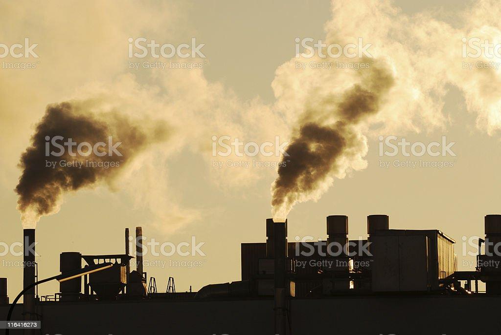 Industrial smoke stock photo